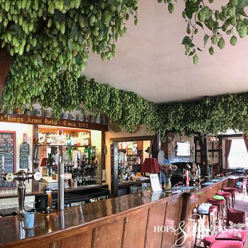 fresh hop garlands, hops for pubs, hop garlands in pubs,